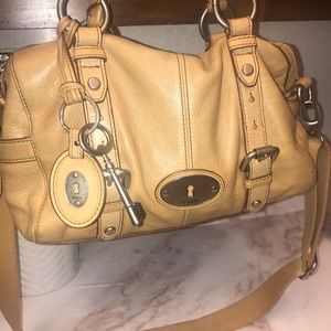 Vintage Fossil Maddox Leather Bag